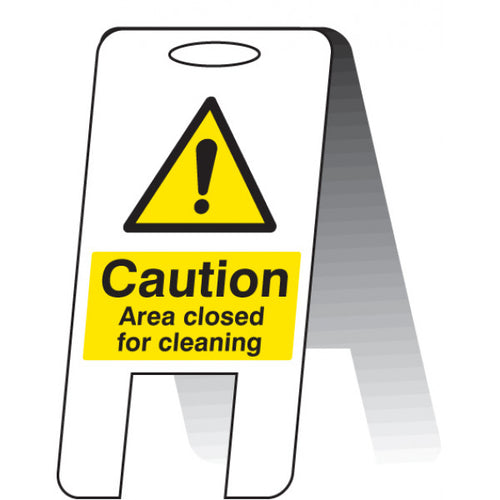 Caution Area Closed for Cleaning Lightweight A-Frame. 300x600mm