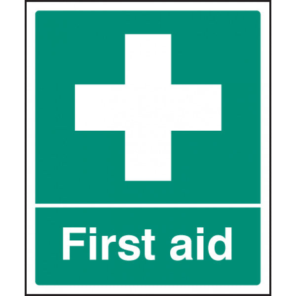 First Aid Safety Sign  Available in Rigid Plastic and Self-Adhesive Vinyl  Size: 300x250mm