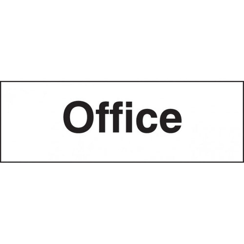 Office Sign Panel  Available in Rigid Plastic and Self-Adhesive Vinyl  Sizes: 300x100mm and 450x150mm