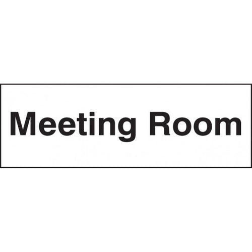 Meeting Room Sign Panel  Available in Rigid Plastic and Self-Adhesive Vinyl  Size: 300x100mm