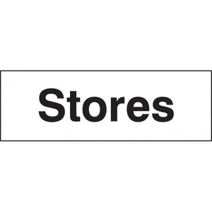 Stores Sign Panel  Available in Rigid Plastic and Self-Adhesive Vinyl  Sizes: 300x100mm and 450x150mm