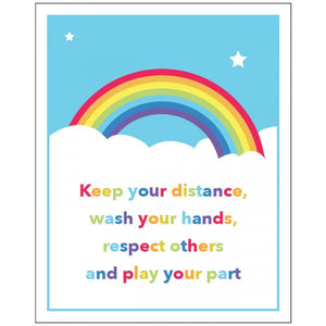 Rainbow Keep Your Distance Sign
