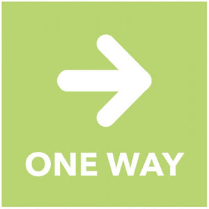 One Way - Arrow Right - Green Floor Graphic Safety Sign  Digitally printed self-adhesive vinyl