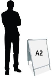 A2 Double-sided A-Frame with Snap Frame for A2 posters