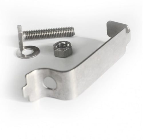 76mm back to back sign clip  Complete with nuts and bolts  Product Code: 60362