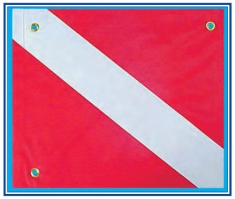 Dive flag W/ Stiffener - DF01