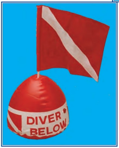 Vinyl Inflatable Float w/ Dive Flag - DF67
