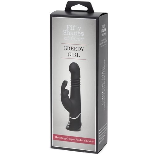 FIFTY SHADES OF GREY GREEDY GIRL RECHARGEABLE THRUSTING G-SPOT RABBIT