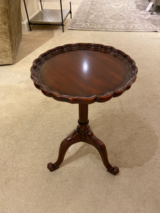 Hand Carved Sherry Accent Table