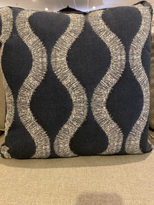 "18"" Navy Pillow by The Patio Shop by Erwin"