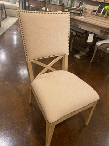 Side Dining Chairs with Nailhead Trim