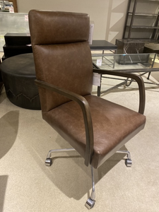 Top-Grain Leather Desk Chair