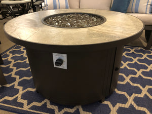 "42"" Round Fire Table with a Porcelain Tile Top"