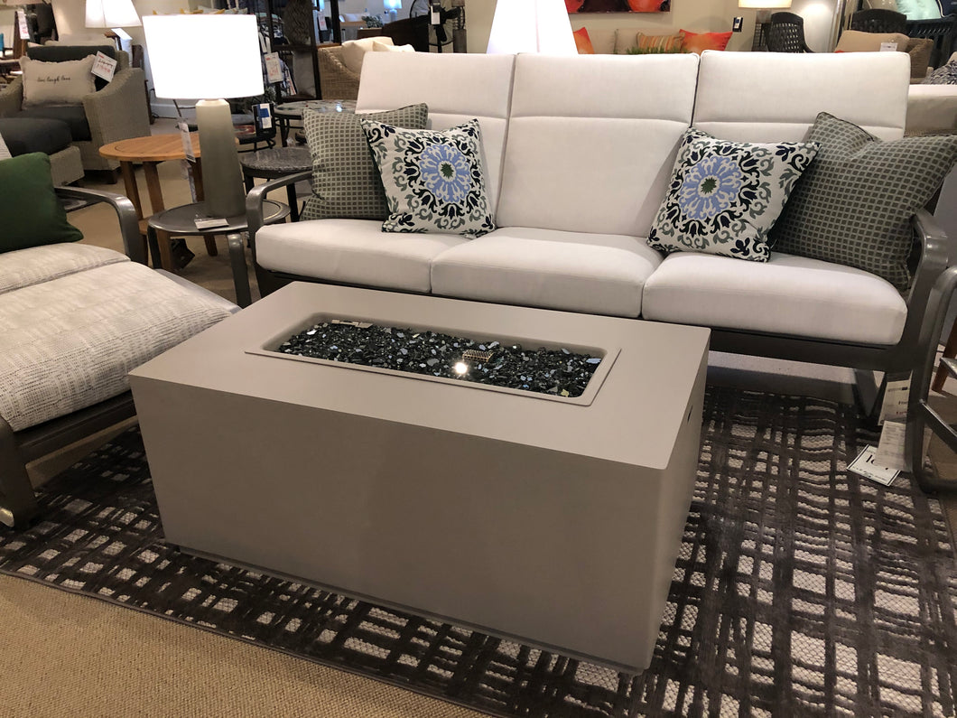 Rectangular Aluminum Fire Table in a Contemporary Style