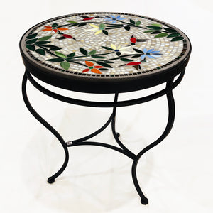 "24"" Carmel Hummingbird Mosaic Table"