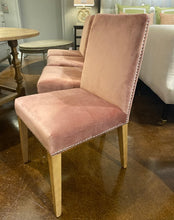 Load image into Gallery viewer, Set of Four Rose Velvet Dining Chairs