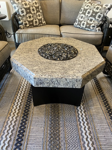 "Innovations by Chance 32"" Octagon Granite Fire Table"
