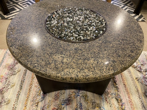 "Oriflamme / Designing Fire 32"" Round Granite Fire Table"