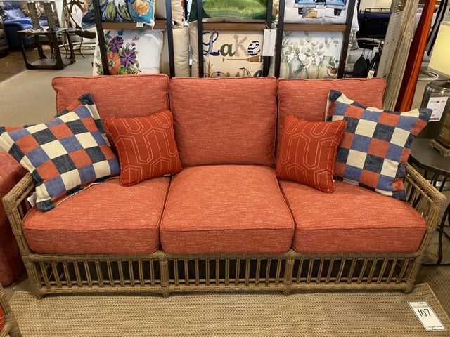 Sofa with Two Throw Pillows