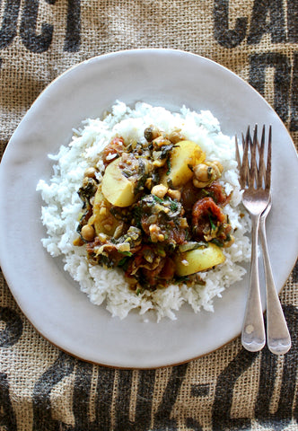On the menu this week meal delivery across nsw act trinidadian chickpea vegetable curry with steamed rice forumfinder Images