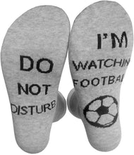 Load image into Gallery viewer, Nuodev Men's Socks, Unisex Funny Crew Socks Do Not Disturb I Am Watching Rugby Football Golf Hosiery - Hybridus