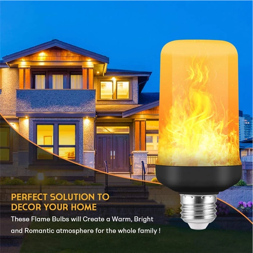 Nuodev Flame Light Bulbs, Base LED Flame Effect Light, Flickering Fire Lamp Bulbs, Indoor Outdoor Decorative Lights Garden Party - Hybridus