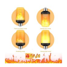 Load image into Gallery viewer, Nuodev Flame Light Bulbs, Base LED Flame Effect Light, Flickering Fire Lamp Bulbs, Indoor Outdoor Decorative Lights Garden Party - Hybridus