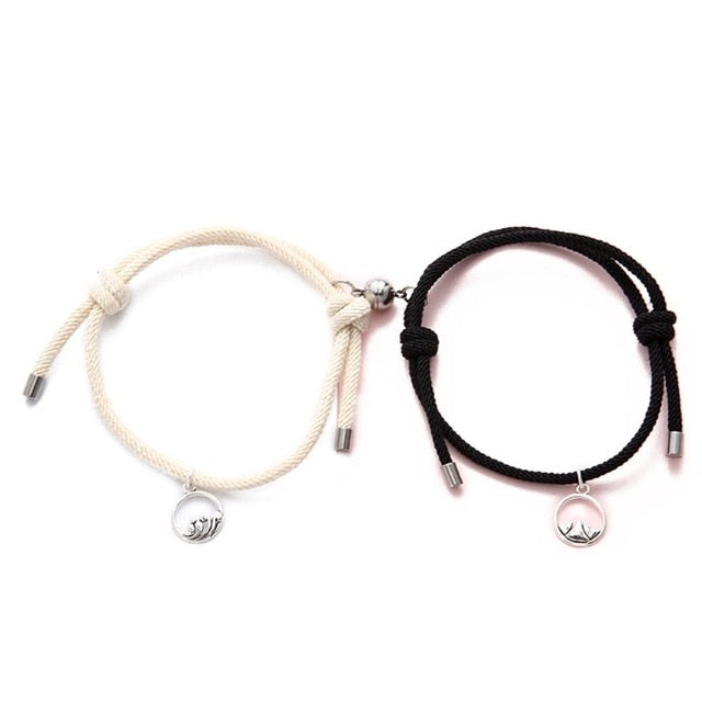 Magnetic Matching Couples & Friendship Rope Bracelet - Contour Couture
