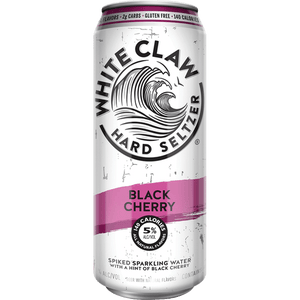 White Claw Hard Seltzer Black Cherry - Grapes & Hops Deli