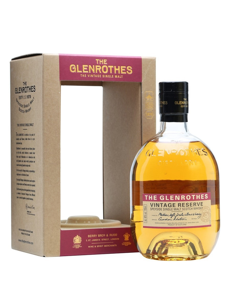 The Glenrothes Vintage Reserve Scotch Whisky - Grapes & Hops Deli