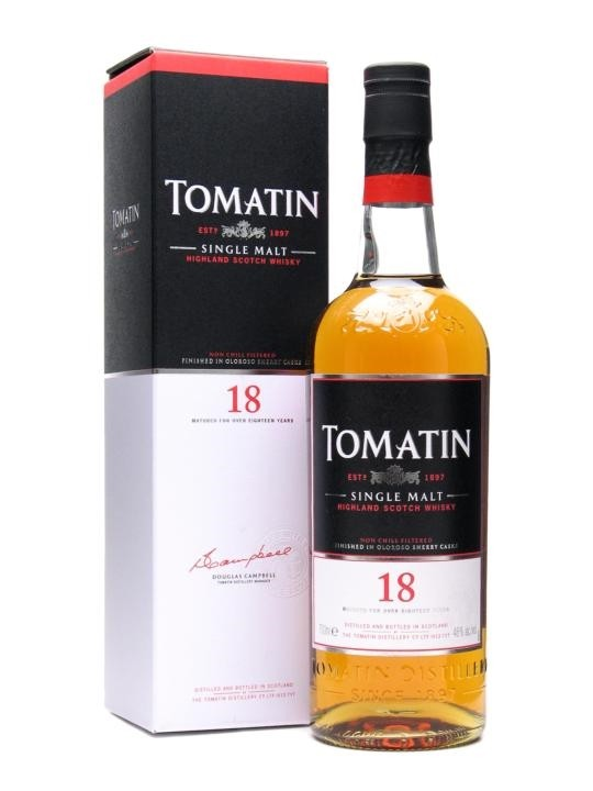 Tomatin Highland Single Malt Scotch Whisky 18 Years - Grapes & Hops Deli