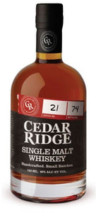 Cedar Ridge Single Malt Whiskey - Grapes & Hops Deli