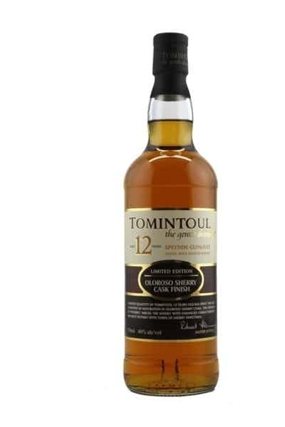 Tomintoul Single Malt Scotch Whisky Sherry Cask Aged 12 Years - Grapes & Hops Deli