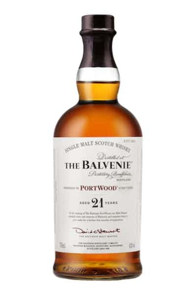 The Balvenie Single Malt Scotch Whiskey Port Wood Aged 21 Years Whisky - Grapes & Hops Deli