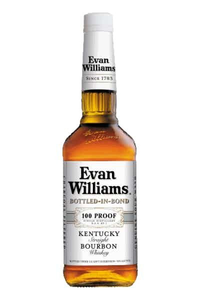 Evan Williams White Label Whiskey 100 Proof - Grapes & Hops Deli