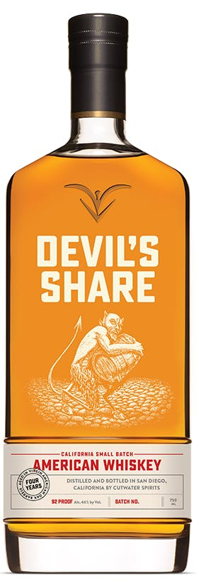 Cutwater Spirits Devil's Share California Small BAtch American Whiskey 92 Proof Batch No. 6