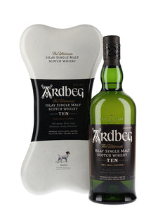Ardbeg The Ultimate Islay Single Malt Scotch Whiskey 10 Years Old Ardbone Gift Pack - Grapes & Hops Deli