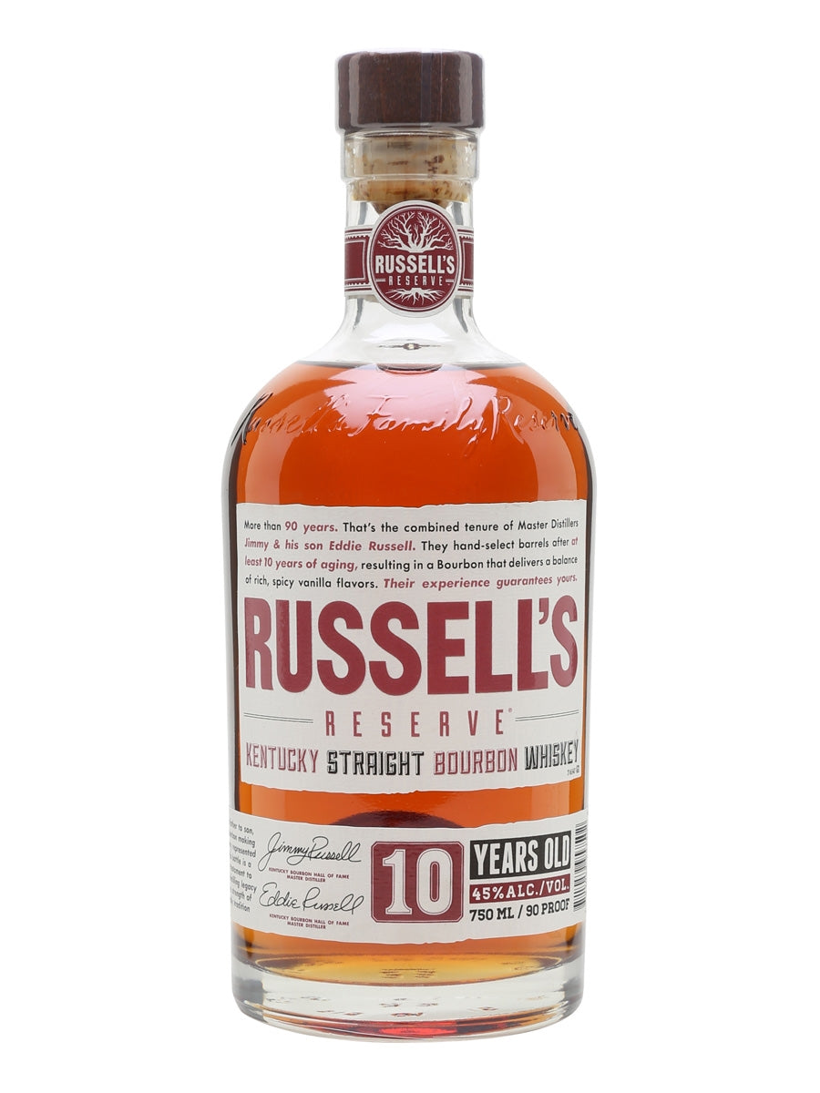 Russell's Reserve 10 Year Bourbon Whiskey - Grapes & Hops Deli