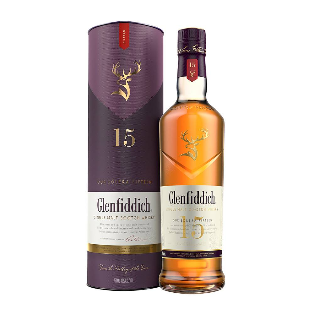 Glenfiddich Single Malt Scotch Whisky Our Solera Fifteen - Grapes & Hops Deli