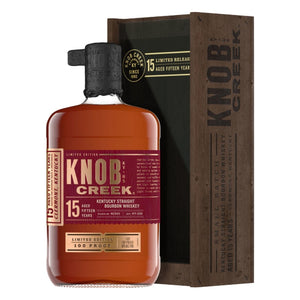 Knob Creek 15 Aged Year Kentucky Straight Bourbon Whiskey Limited Edition 100 Proof