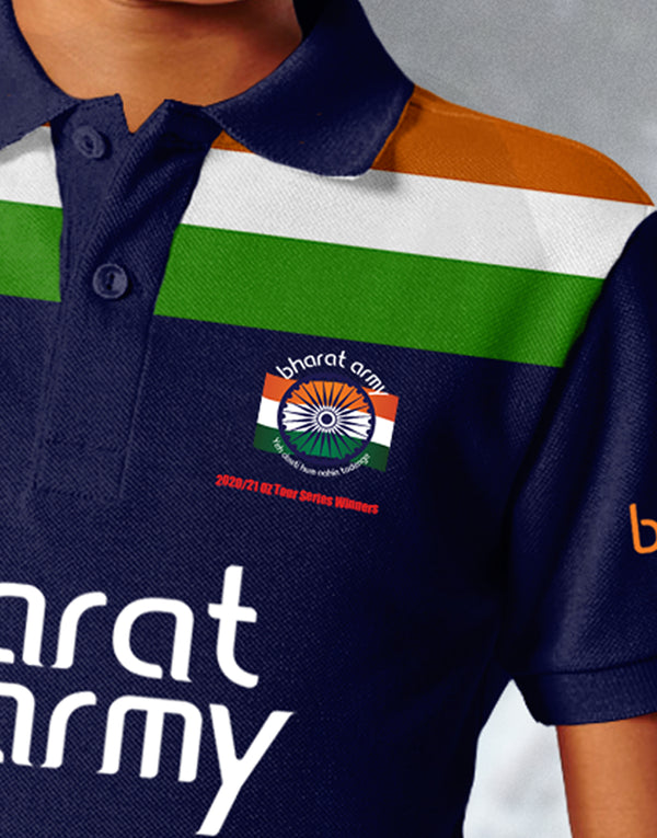 KID'S BHARAT ARMY  2020/21 OZ TOUR SERIES WINNERS EDITION JERSEY WITH CUSTOMISE OPTION