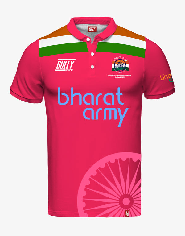 MEN'S BHARAT ARMY WORLD TEST CHAMPIONSHIP FINAL ENGLAND 2021 JERSEY PINK