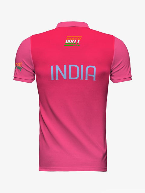 Kid's Bharat Army Jersey Pink WITH CUSTOMISE OPTION