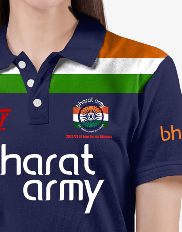 BHARAT ARMY  2020/21 OZ TOUR SERIES WINNERS EDITION JERSEY WITH CUSTOMISE OPTION