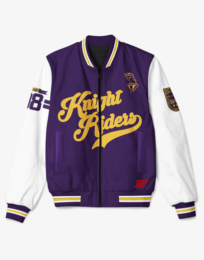 KKR OFFICIAL 2019 BOMBER JACKET PRINTED WITH CUSTOMISE OPTION