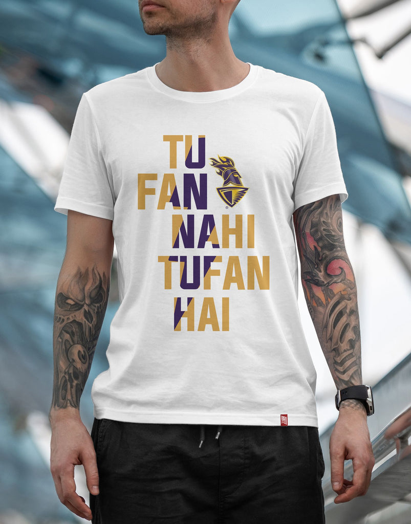 MEN'S KKR OFFICIAL 2020 DRIFIT TEE TUFAN WHITE