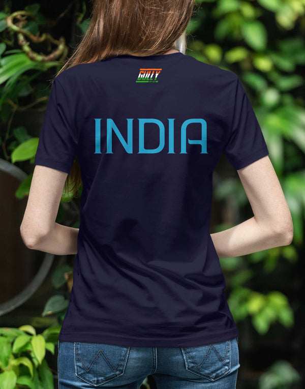 WOMEN'S BHARAT ARMY TEE NAVY