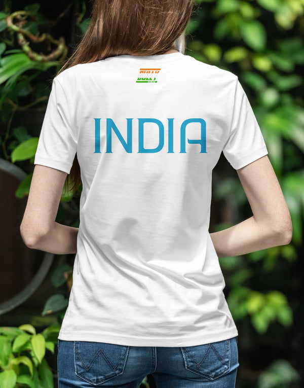 WOMEN'S BHARAT ARMY TEE WHITE