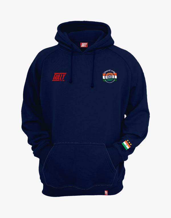 MEN'S BHARAT ARMY SPORTY HOODIE NAVY