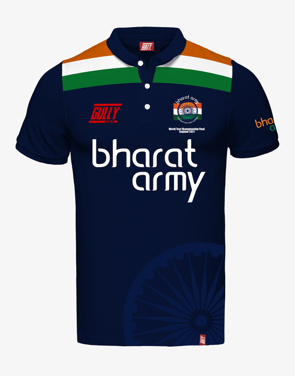 MEN'S BHARAT ARMY WORLD TEST CHAMPIONSHIP FINAL ENGLAND 2021 JERSEY NAVY